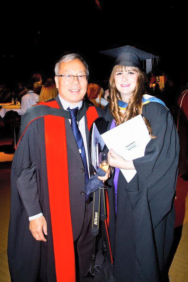 Myself and Dr Wei-Jun at my Post-graduate Graduation