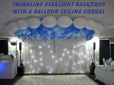 Starlight Backdrop with Balloon Ceiling