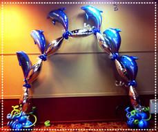 Foil Balloon Dolphin Arch