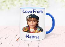 light blue  personalised fathers day mug