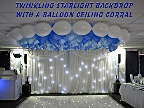 Starlight Backdrop with a Balloon Ceiling