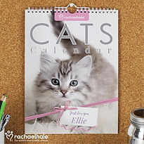Personalised Rachael Hale A4 Cats Calend