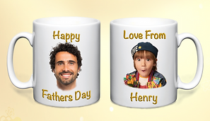 Double gold  personalised fathers day mu
