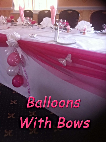 Balloons with Bows