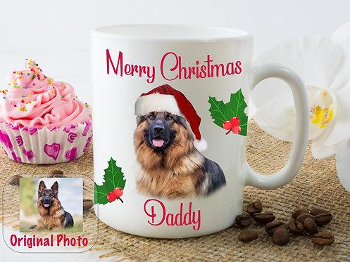 Christmas Pet Portrait Durham Mug