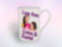Personalised Fathers day Mug purple back