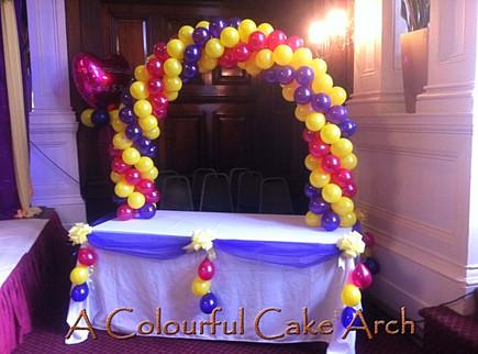 Balloon Cake Arch