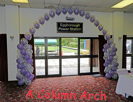 Two Balloon Columns Connected by an Arch