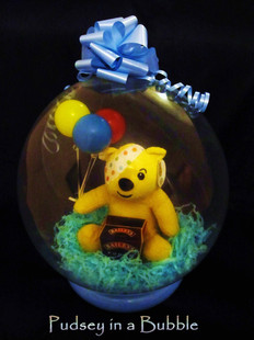 Pudsey Bear in a Bubble
