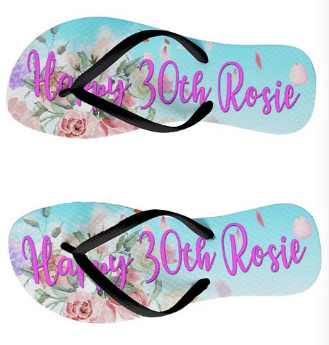 Personalised Birthday Flip Flops