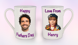 Double purple personalised fathers day M