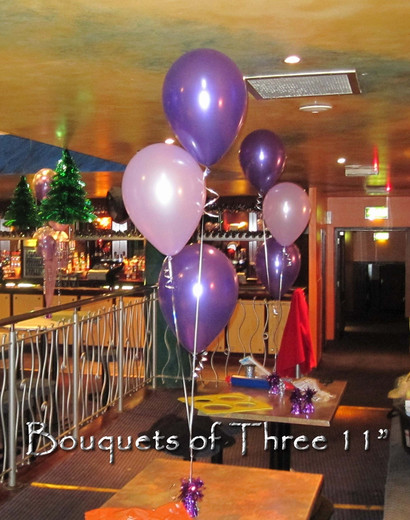 Bouquets of Three Eleven Inch Balloons