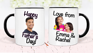 Personalised Fathers day Mug black dbl.p