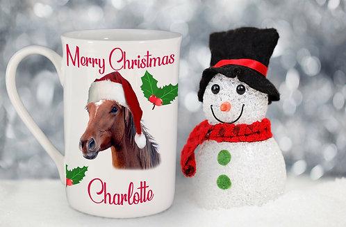 Christmas Pet Portrait Windsor Bone China Mug