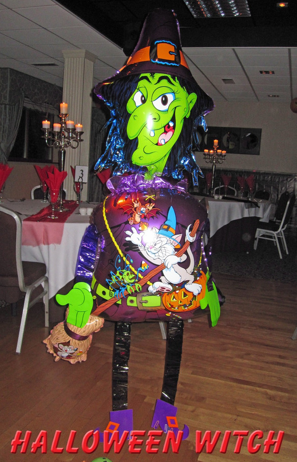 Balloon Halloween Witch