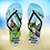 Thumbnail: Personalised 'Around the World' Flip-Flops