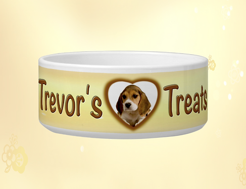"'Paws & Bones"" Personalised Dog Bowls"