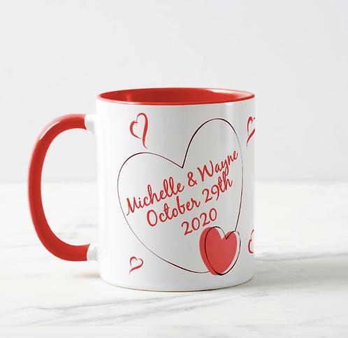 """He/She Said I Do!! 11oz 2-Tone Personalised Mug"