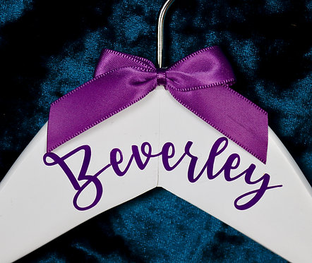 Personalised Coat Hanger with Satin Bow