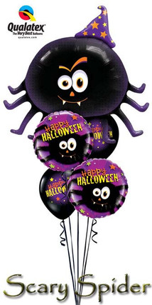 Scary Spider Balloon Bouquet