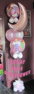 Balloon Display for Baby Shower