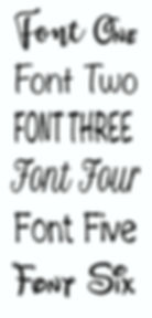 Landscape Font Choices for personalising