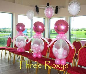 Three 'Roxy the Balloon Girl' Figures