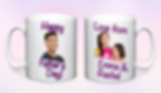 Personalised Fathers day Mug purple doub