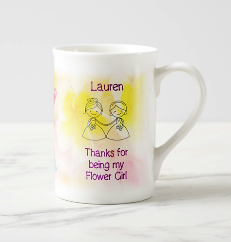 "Personalised Bone China ""Thanks for being my......."" mug"