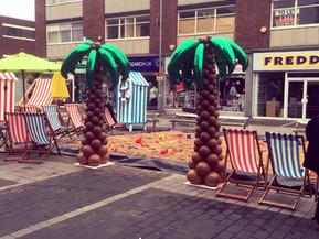Balloon Palm Tree Sculpture