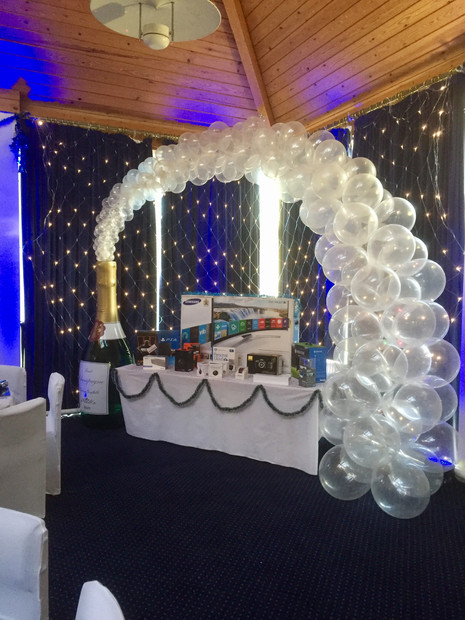 Balloon Champagne Bottle Arch