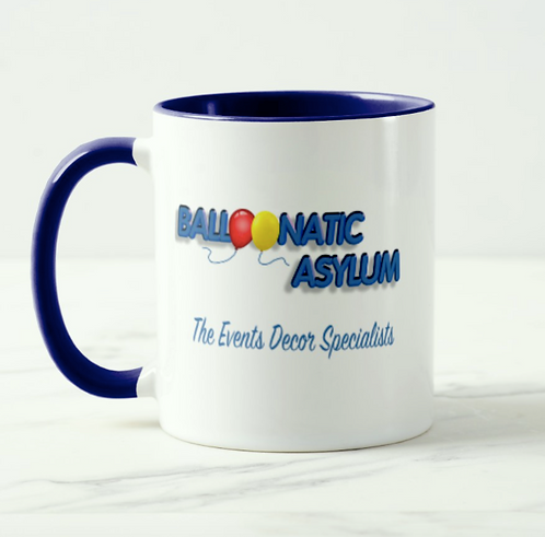 11oz '2-tone' mug featuring your logo on both sides