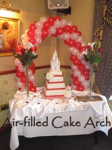 Balloon Arch over Cake Table.