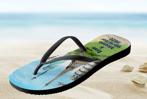Personalised 'Around the World' Flip-Flops