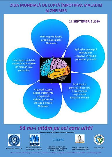 Poster profesionisti Alzheimer - Ziua Mo