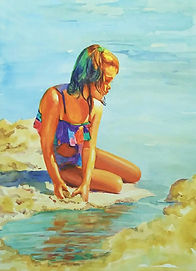 Day Dreamer  Watercolour  76 x 54 cms