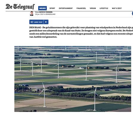Nederlandse aanpak windturbines in strijd met Europees recht