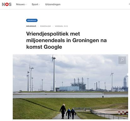 Vriendjespolitiek met miljoenendeals in Groningen na komst Google