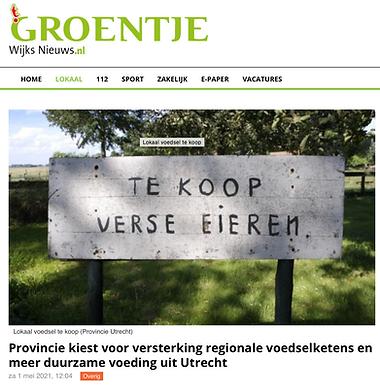Provincie kiest voor versterking regionale voedselketens en meer duurzame voeding uit Utrecht