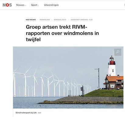 Groep artsen trekt RIVM-rapporten over windmolens in twijfel