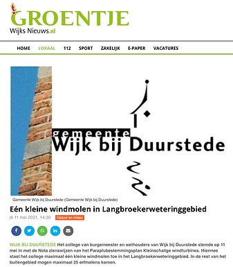 Eén kleine windmolen in Langbroekerweteringgebied