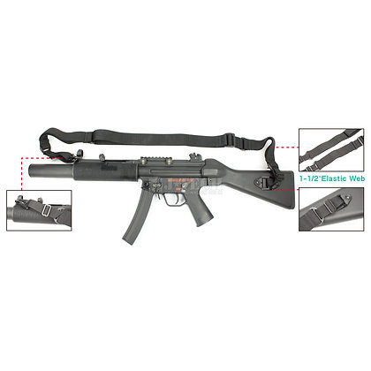 STRIKER ELASTIC TACTICAL SLING WITH MP-5K&MP-5