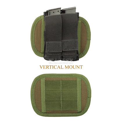 """DOUBLE-SIDED MOLLE ADAPTER PLATE 6 """" WITH BELT LOOP"""