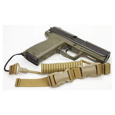 M-1 TACTICAL PISTOL LANYARD COILED - (6mm)