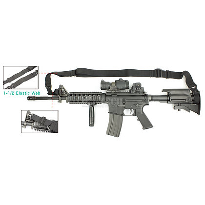 STRIKER ELASTIC TACTICAL SLING WITH M4 / M16