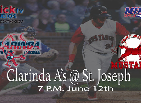 Clarinda A's at St. Joseph Mustangs Baseball Club)