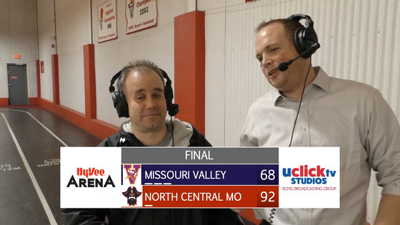 Post game with a very happy Coach Esry NCMC 92 Missouri Valley 68
