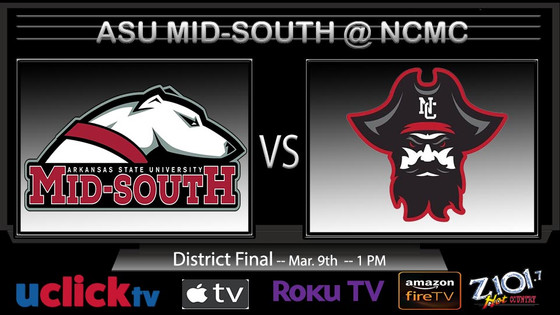 NJCAA DISTRICT FINAL ASU MID-SOUTH @ NORTH CENTRAL MISSOURI COLLEGE