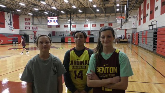 PRE SEASON INTERVIEWS WITH BENTON LADY CARDINALS Bailey Russell, Melanie Murphy & Gabby Fuller
