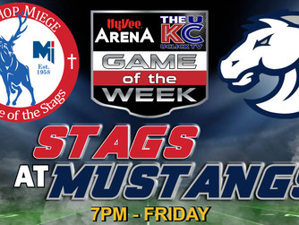 Hy-Vee Arena Football Game of the Week Show - Game This Week Bishop Miege @ Blue Vally North